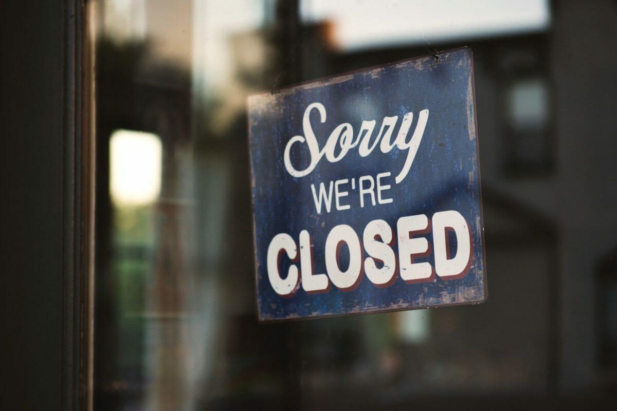 Sorry, gesloten